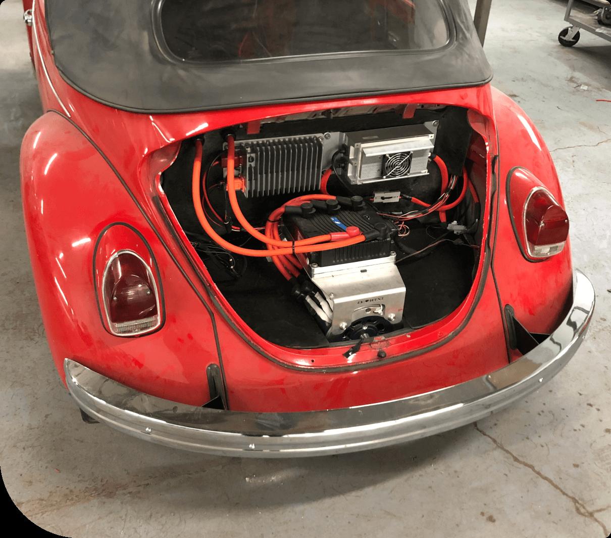 Volkswagen électrique modifiée par VE Mtl.
